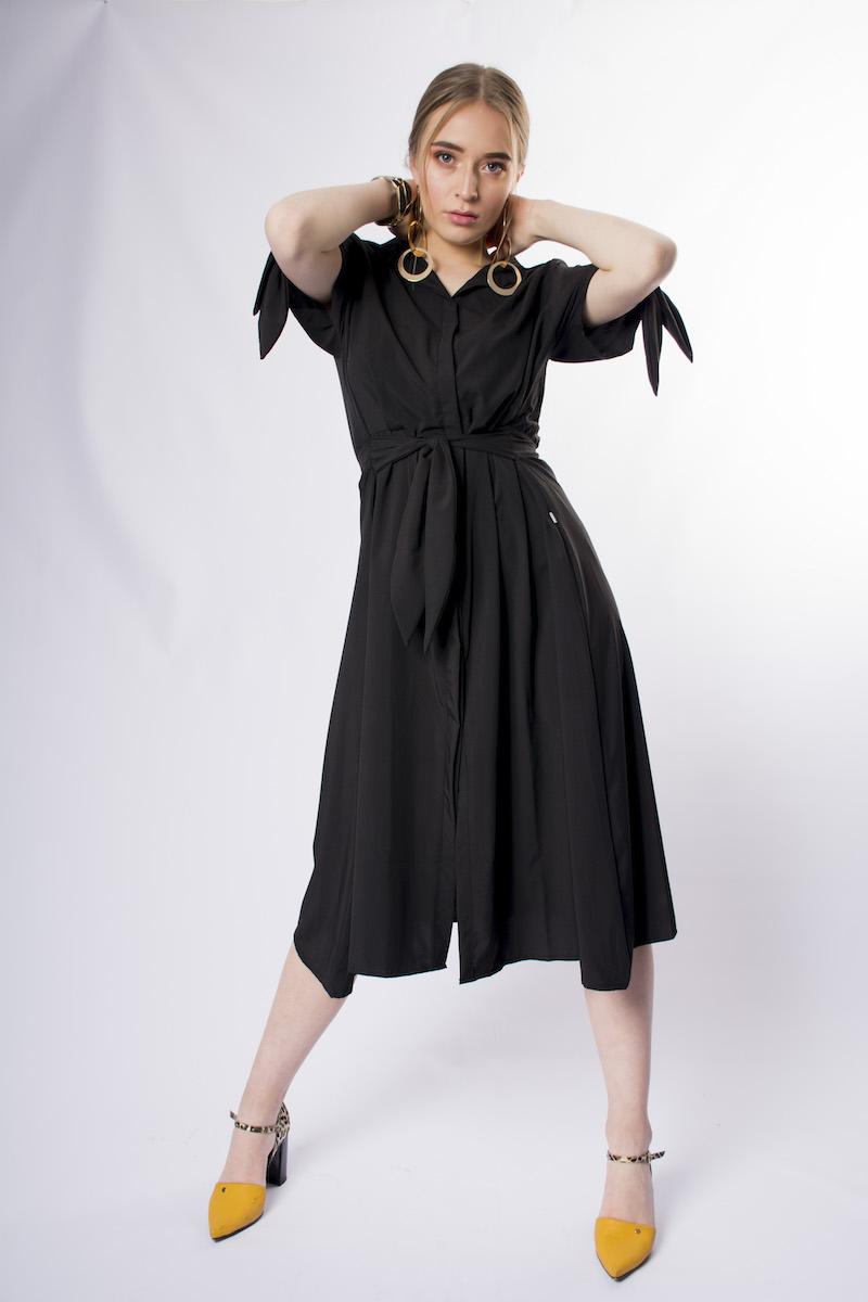 Vestido Cardigan Kimono Negro