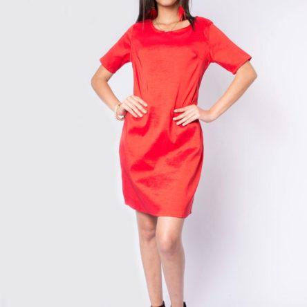 Vestido Iken Rojo Satinado