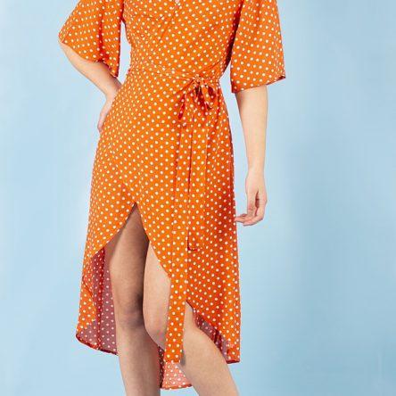 Vestido Largo Asly Naranja